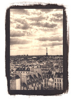 Paris Cityscape with Clouds